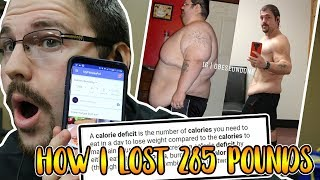 HOW TO LOSE WEIGHT WORKING 100% ( How I lost 285 Pounds) 2018