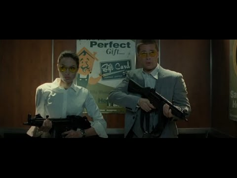 Mr. & Mrs. Smith 2005  -  Elevator Scene