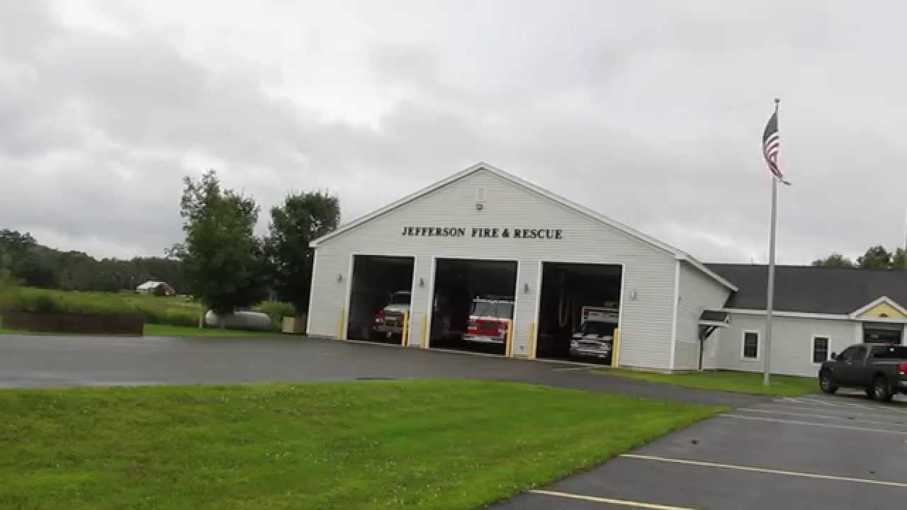 Jefferson Maine Volunteer Fire Department Responding To A