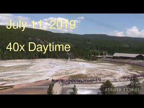 July 11, 2019 Upper Geyser Basin Daytime Streaming Camera Captures