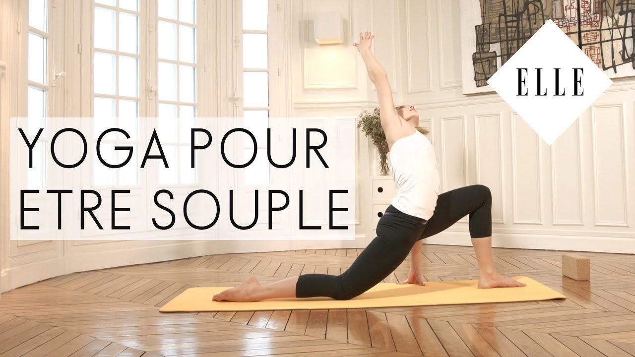cours de yoga pour tre souple elle yoga youtube. Black Bedroom Furniture Sets. Home Design Ideas
