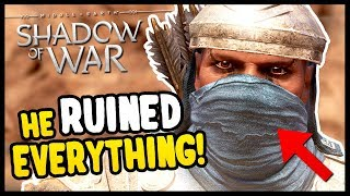 HE BETRAYED US! | Shadow of War - Desolation Of Mordor Funny Moments Gameplay