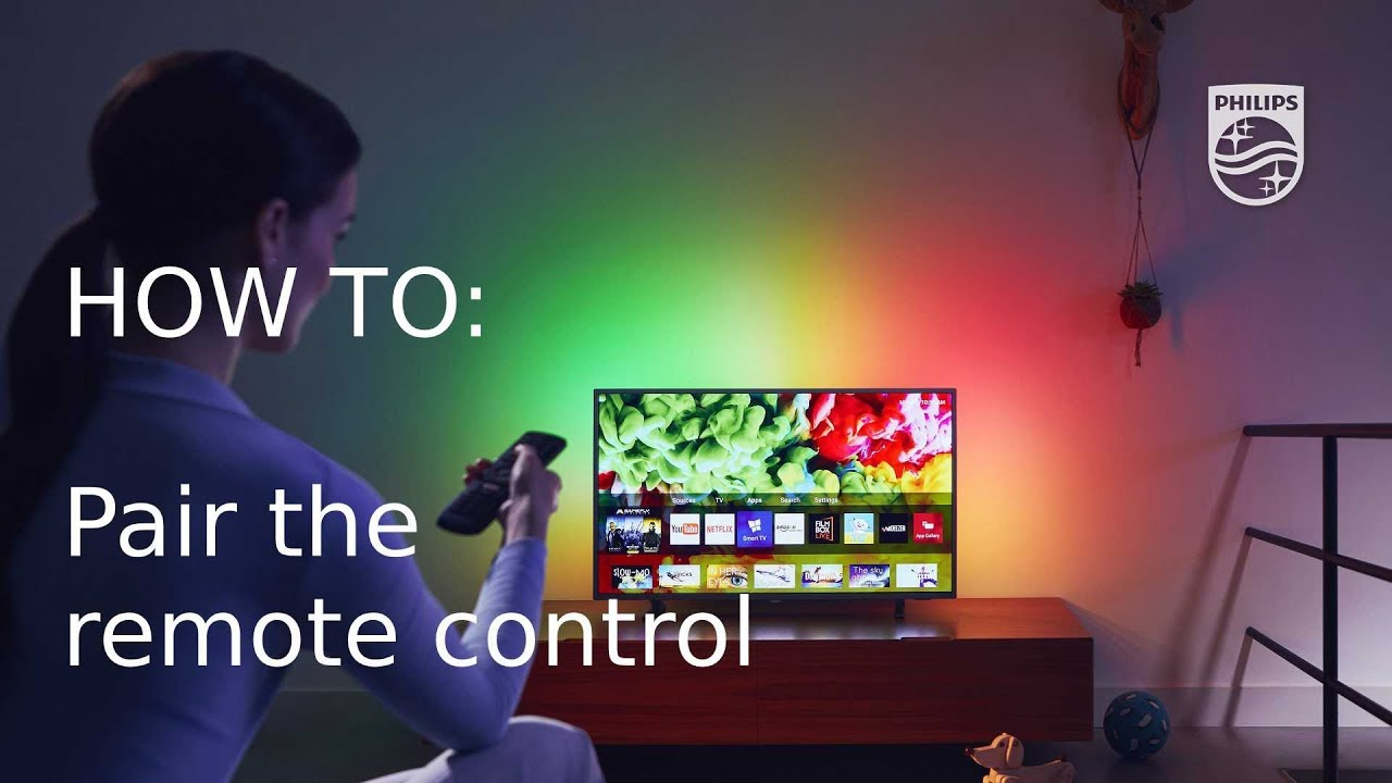 How to pair the remote control with your Philips TV [2018]