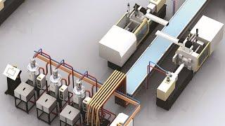 Термопластавтоматы SOUND в работе. Оборудование для производства изделий из пластмассы.(, 2013-09-23T13:16:30.000Z)