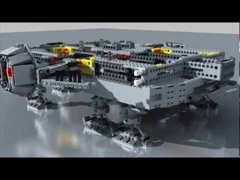 @Francisco Prieto - Lego Millennium Falcon Stop Motion Assembly 3d