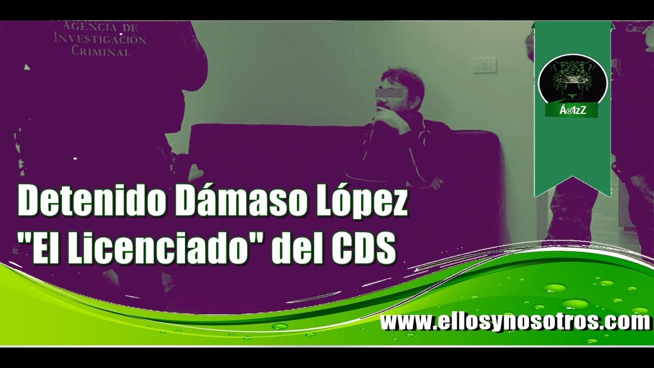 """Detienen a Dámaso López """"El Licenciado"""""""