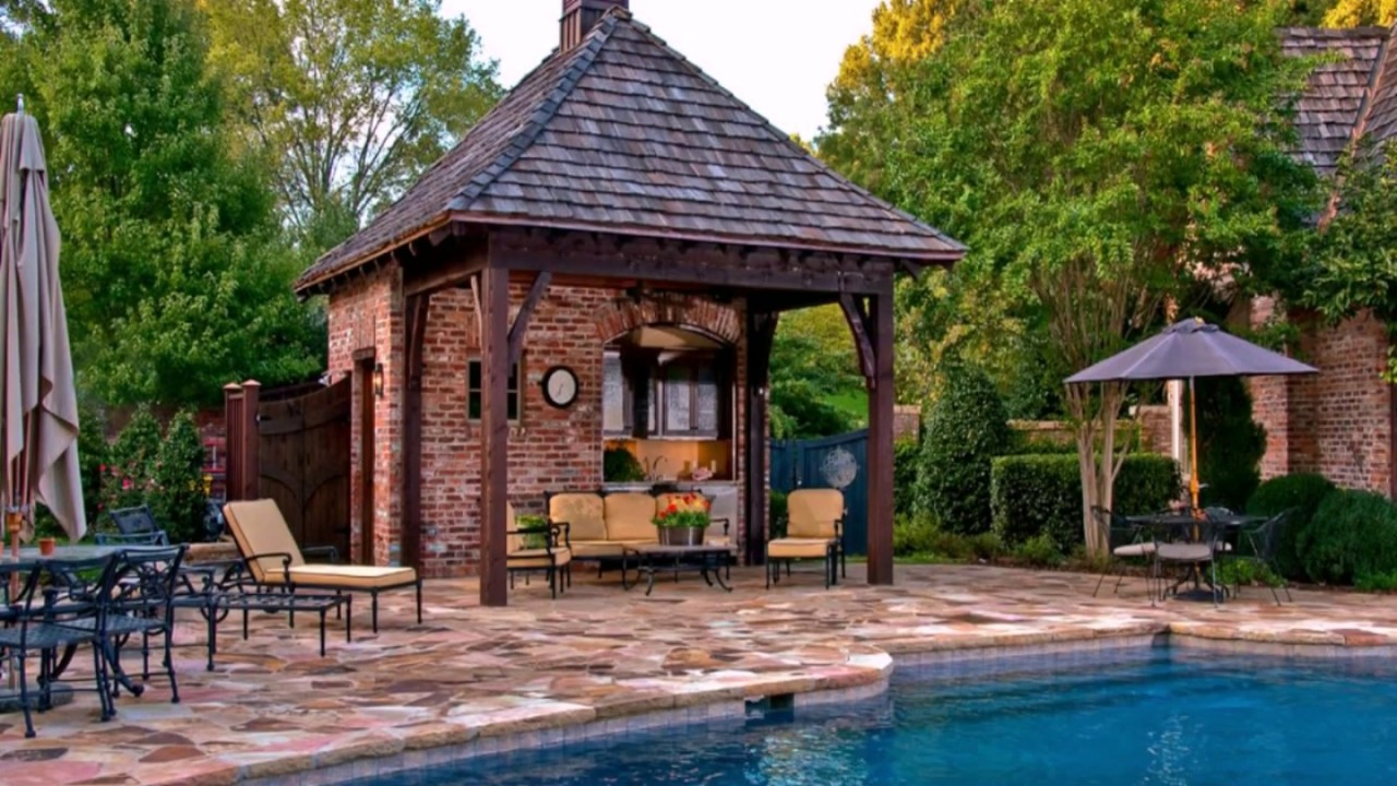 Swimming Pool Cabana Ideas - YouTube on Cabana Designs Ideas id=35617