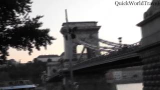 Walking along the river in Budapest