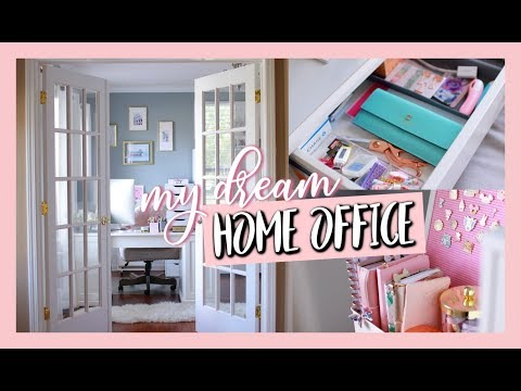 MY DREAM HOME OFFICE SPACE | OFFICE TOUR 2019