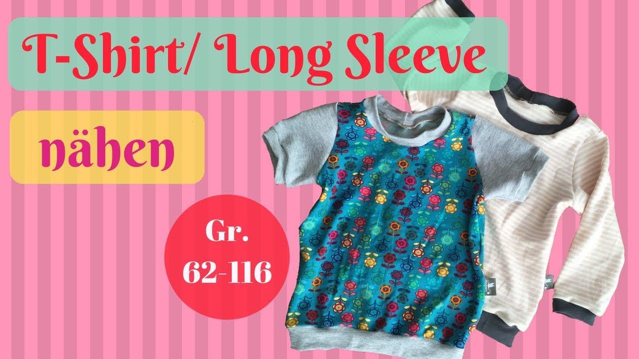 Langarmshirt nähen - Baby T-Shirt nähen - Nähanleitung für Anfänger ...