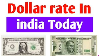 Dollar rate in india Today || Usd dollar rate today in india ||  American Dollar Rate Today