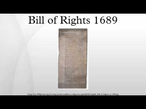 bill of rights of 1689 What was the significance of the english bill of rights a: parliament passed the english bill of rights on december 16, 1689 it's accompanied by the magna carta, the petition of right and the habeas corpus act of 1679 learn more about modern europe sources: billofrightsinstituteorg.