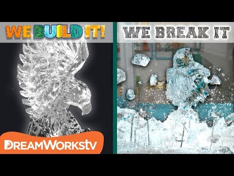 Carving an Ice Eagle + CRUSHING IT! | WE BUILD IT WE BREAK IT