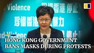 Hong Kong government bans masks during protests