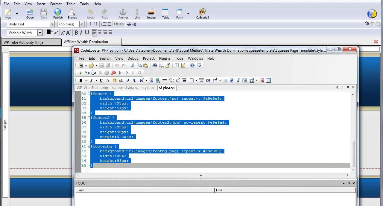 Background image external css - Converting An External Css File To Inline Css
