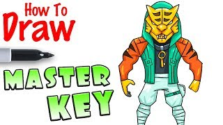 How to Draw Masterkey with Mask | Fortnite