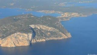 Landing at Olbia Costa Smeralda Airport - Sardinia HD