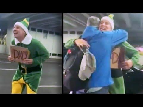 Man Dresses as 'Elf' to Meet His Biological Dad