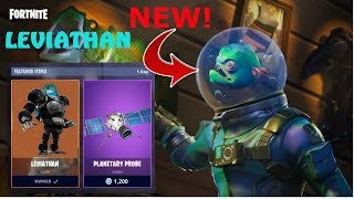 "Fortnite Battle Royale *NEW* LEGENDARY ""LEVIATHAN"" SKIN and ""PLANETARY PROBE"" GLIDER!"
