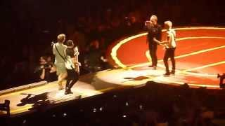 """U2 """"Angel of Harlem"""" (w fan from Chile on guitar) MSG NYC 7/27/15"""