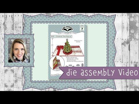 Karen Burniston Die Set #1020 Christmas Tree Pop up Assembly