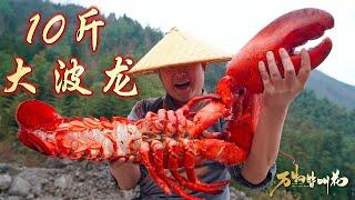 【Shyo video】2400元買10斤大波龍,用石頭燜出來,100元一口,真過癮