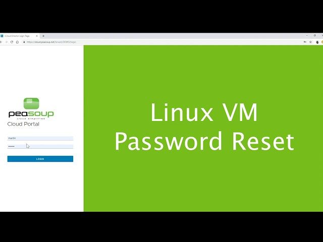 Linux Virtual Machine (VM) Root Password Reset