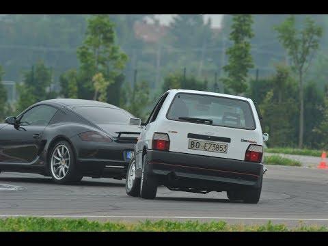 Uno Turbo i.e. vs Porsche Cayman s - San Martino del Lago 02/06/2016