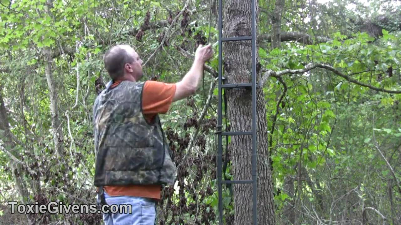 How to make your own tree stand safety system youtube for Build your own tree stand