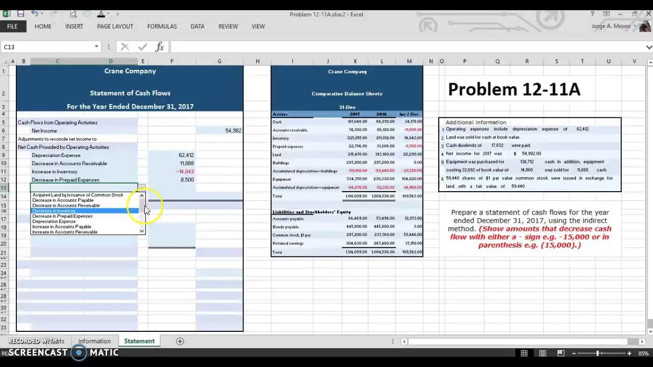 Problem 12-11A - ACCT 201-19