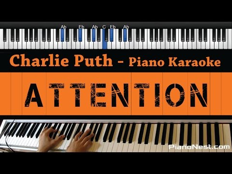 Charlie Puth - Attention - Piano Karaoke  Sing Along  Cover with