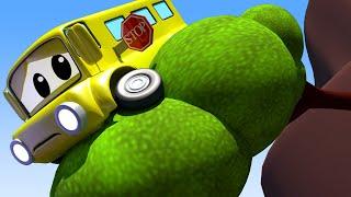 Детские мультфильмы с грузовиками АВТОБУС Лили застряла на краю обрыва детский мультфильм