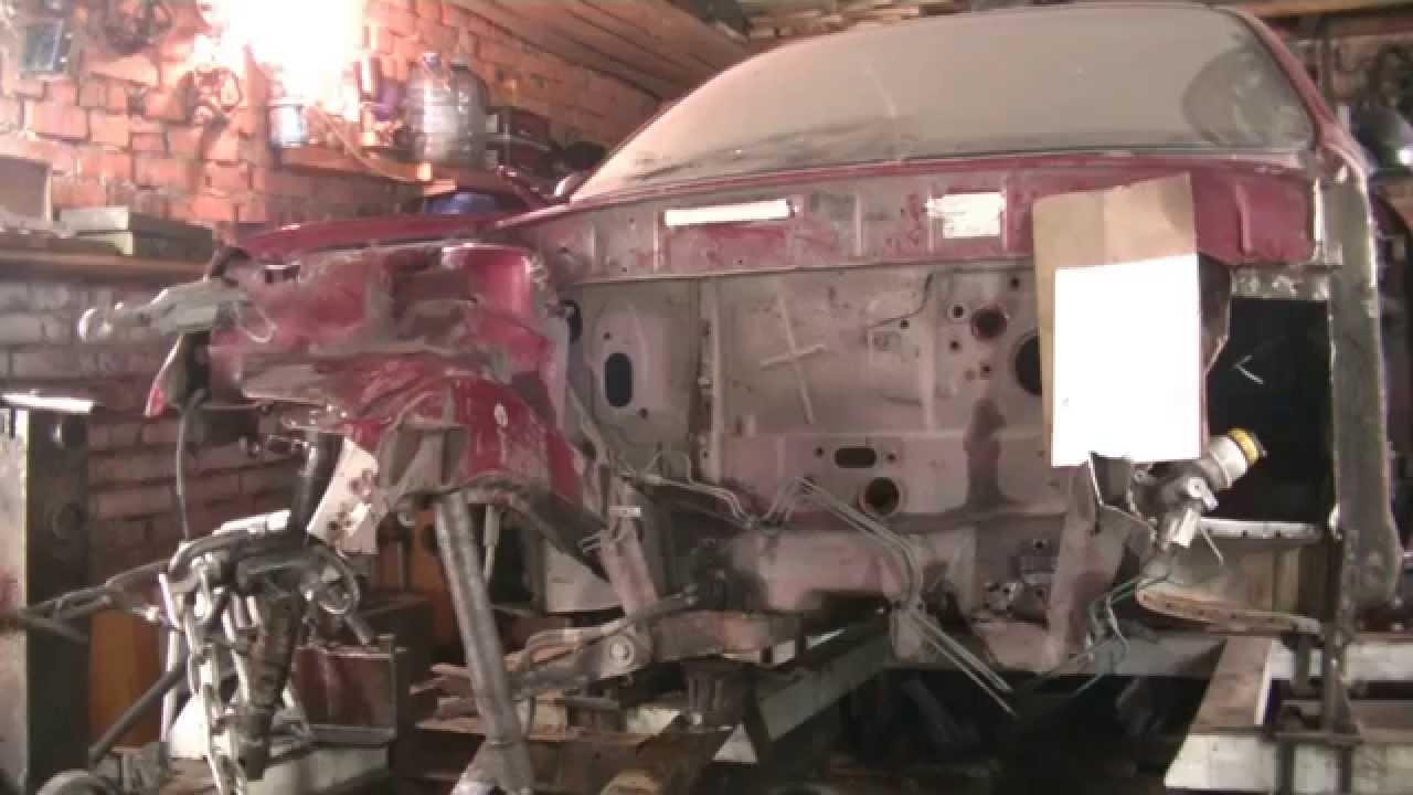 Рихтовка красного Деу Ланоса.Часть 3.Кузовной ремонт.Body Repair