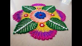 Beautifil Festival rangoli design | dasara special rangoli by Yogita Garud