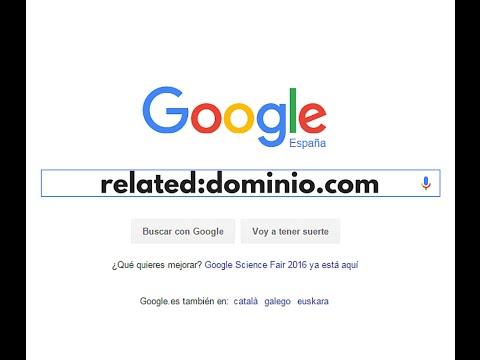 Buscar en Google webs relacionadas con operadores de busqueda
