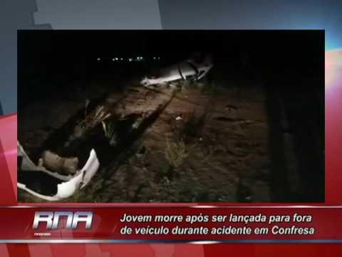 Jovem morre após ser lançada para fora de veículo durante acidente em Confresa