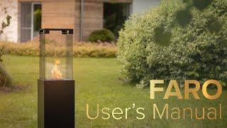 How to use Faro Outdoor Gas Fireplace