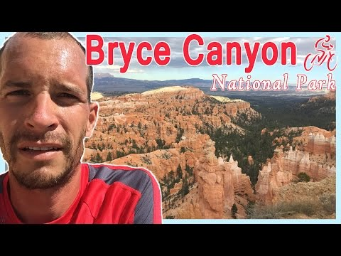 Cycling - Riding Through Bryce Canyon National Park in Southern Utah Canyons
