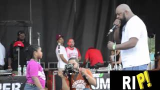 Sean Price & His Daughter Live at the 2015 Duck Down BBQ