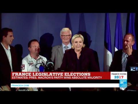 France Legislative Elections: Le Pen addresses press after parliamentary win