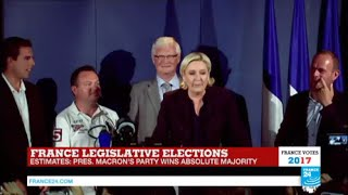 France Legislative Elections: Le Pen addresses press after parliamentary win