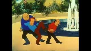 Tintin banner på svensk (med norsk DVD-undertekst)