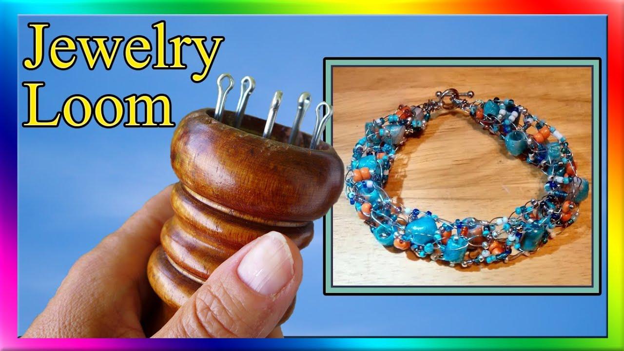 How To Make A Jewelry Loom - Knitting Spool - YouTube