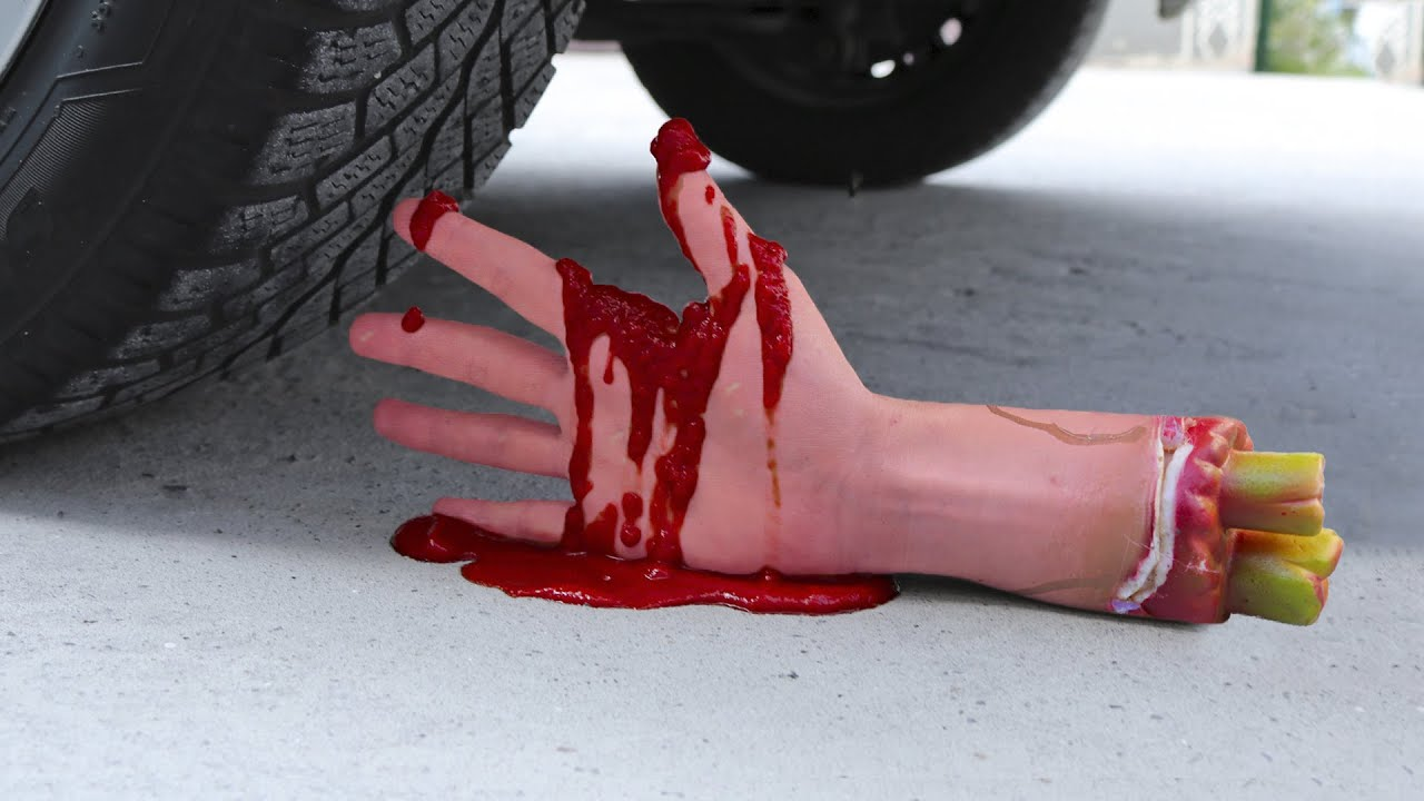 Experiment Car vs Plastic Hand, Floral Foam, Toothpaste | Crushing Crunchy & Soft Things by Car!
