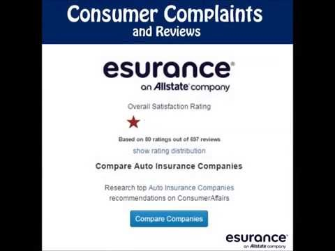 Esurance Insurance Companion Complaints and Reviews claims