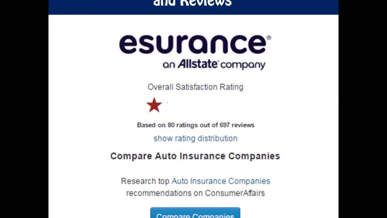 Esurance Insurance Companion Complaints And Reviews Claims Youtube