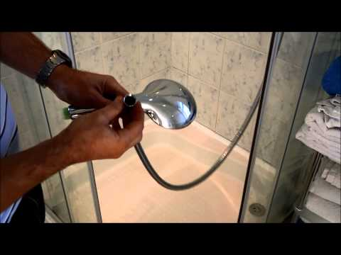 How to Fit a water saving shower head