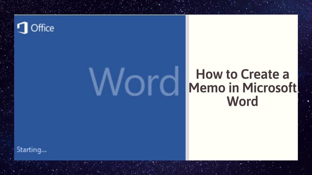 how to create a memo in microsoft word 2010 youtube