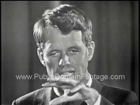 Robert F. Kennedy speech at Columbia University 1964 RFK speaking