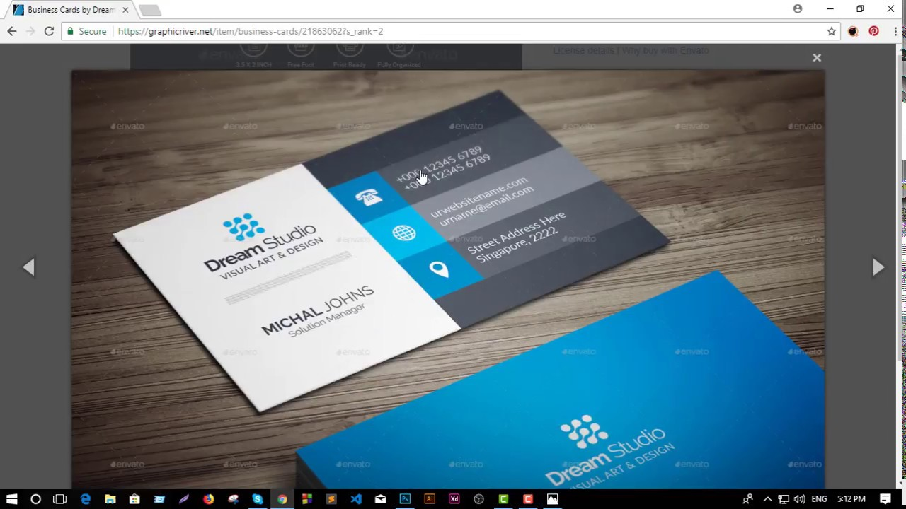 How to create flex banner design visiting card design business business card design in photoshop cc tutorial fun with adobe reheart Choice Image